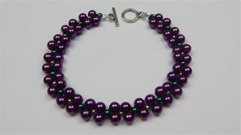 how to make bead jewelry patterns how to make an easy beaded pearl bracelet beading jewelry