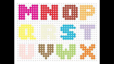 perler bead letters hama bead alphabet