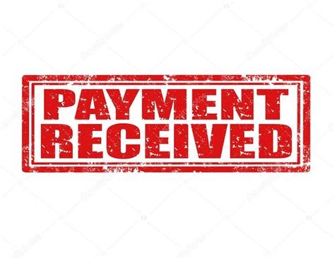 rubber st paid payment received st stock vector 169 carmen dorin 29980277