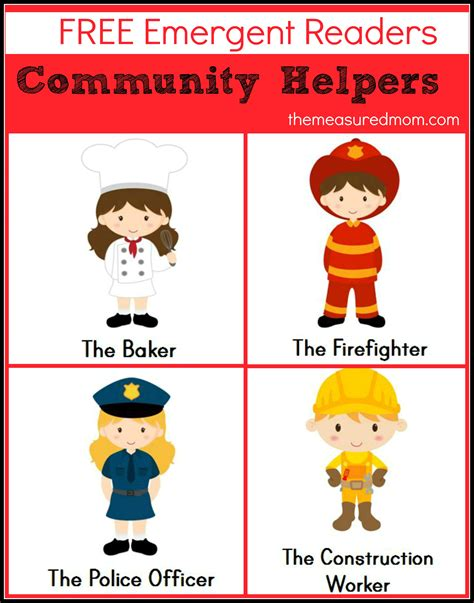 picture books about community helpers free community helpers emergent readers the measured