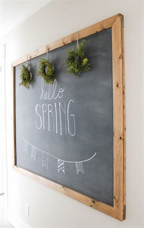 diy chalkboard wall frame how to make your own large hanging chalkboard