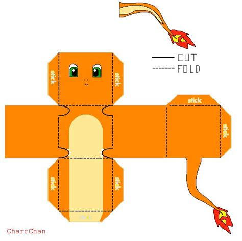 origami charmander 150 best images about cube crafts on pikachu