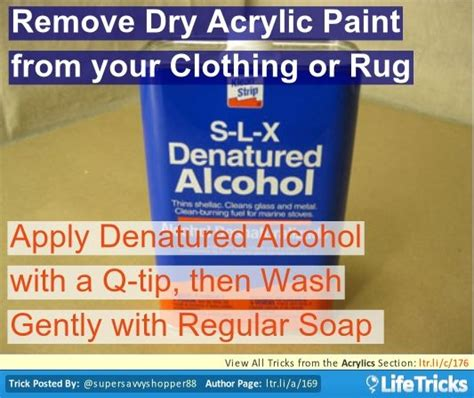 acrylic paint how to remove remove acrylic paint from your clothing or rug