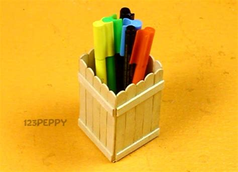 pen stand craft for how to make a wood boat katcida