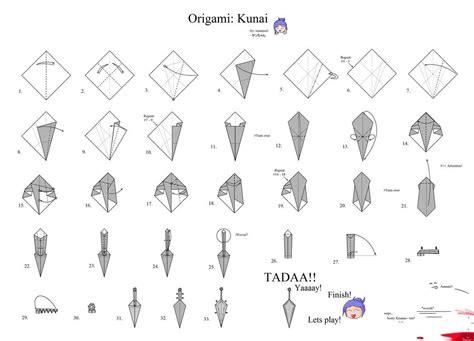 how to make origami kunai image gallery origami kunai