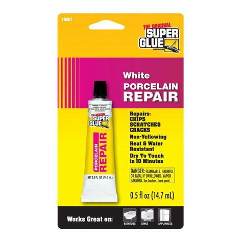 How To Fix Cracked Paint On Ceiling by Super Glue 5 Fl Oz White Porcelain Repair 12 Pack