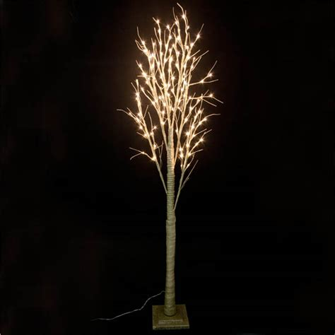 pre lit twig lights pre lit gold glitter paper twig tree 200cm with 120 warm