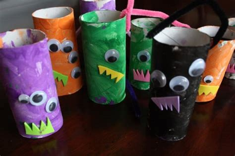 Toilet Paper You Monster by Monster Mobile Toilet Roll Craft Happy Hooligans