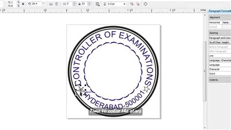 company rubber st template how to make a simple st in corel draw subs