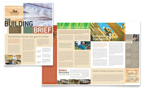 home builders amp construction newsletter template word