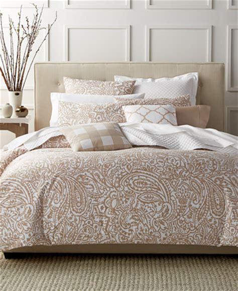macys bedding charter club damask designs paisley taupe king comforter