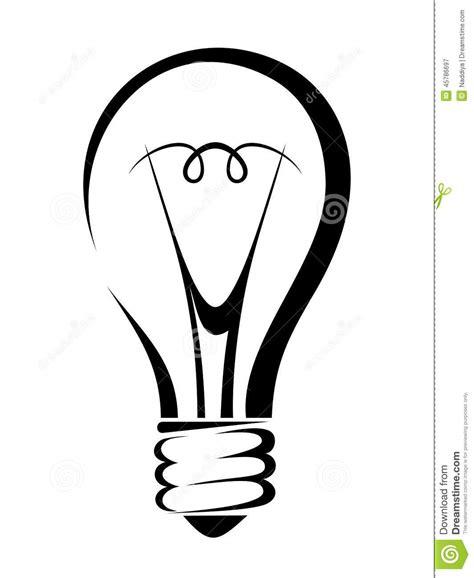 silhouettes lights light bulb vector black silhouette stock vector image
