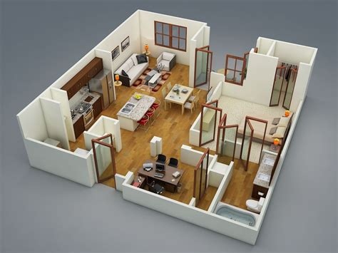 in apartment house plans 1 bedroom apartment house plans