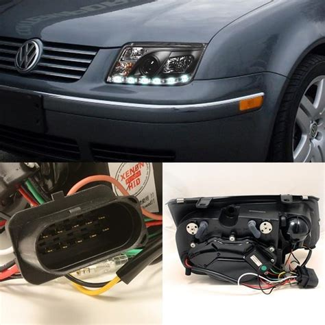 2001 Volkswagen Jetta Headlights by 1999 2005 Volkswagen Jetta Led Drl Projector Headlights