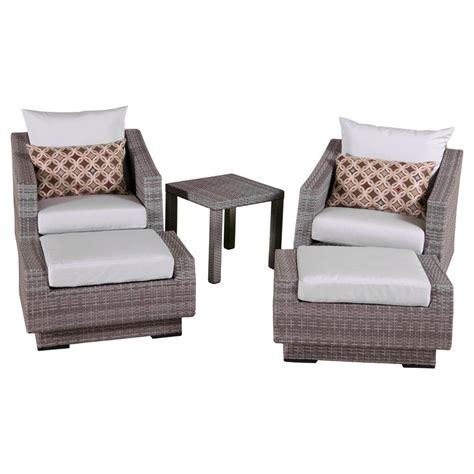 patio chair and ottoman set martha stewart living lake adela weathered gray 2