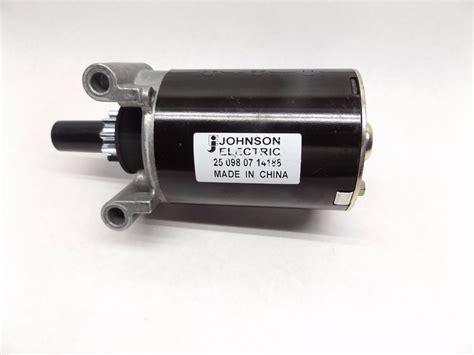 Johnson Electric Motors by Johnson Electric 25 098 07 14188 Starter Motor Stock