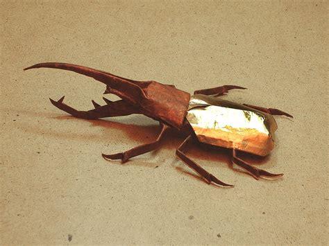 origami hercules beetle мир оригами насекомые из бумаги