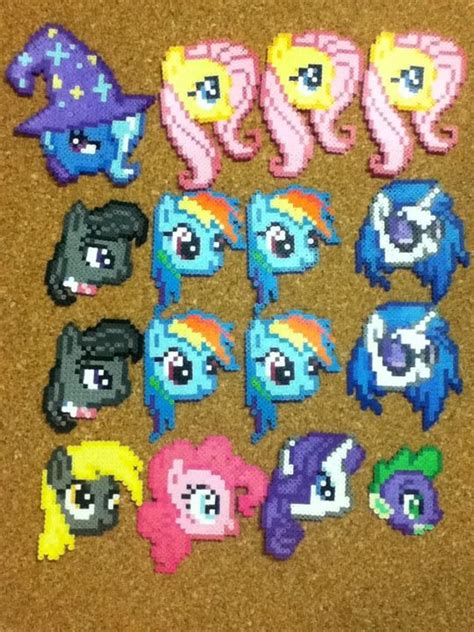 my pony perler perler my pony heads d by otakuluka on deviantart