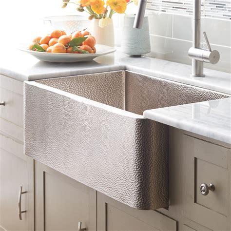 kitchen with farm sink farmhouse 30 copper apron front sink trails