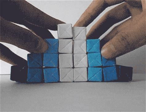 interactive origami gif sculpture origami crafts diy geometric interactive