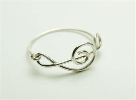 how to make rings out of wire and fancy note sterling silver wire ring treble clef
