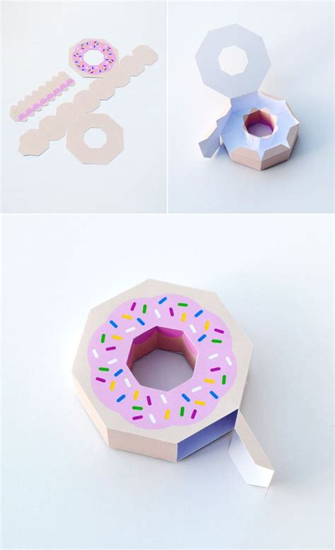 giftwrap paper donut stand on gift wrap and donuts