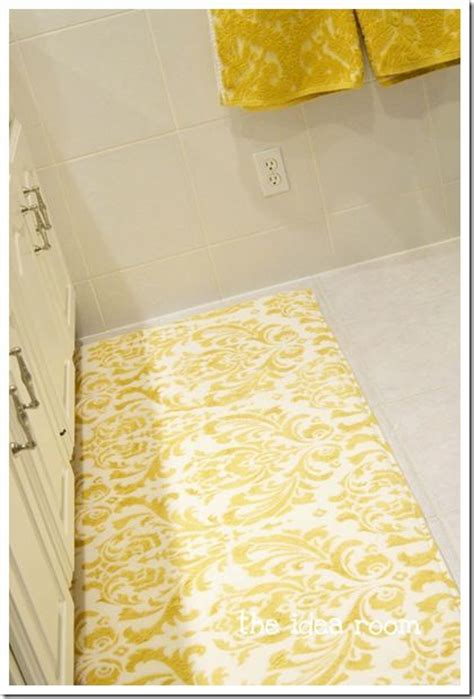 yellow bathroom rugs 25 unique stencil rug ideas on inexpensive