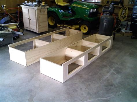 building a bed frame with storage building a platform bed frame with storage image of easy