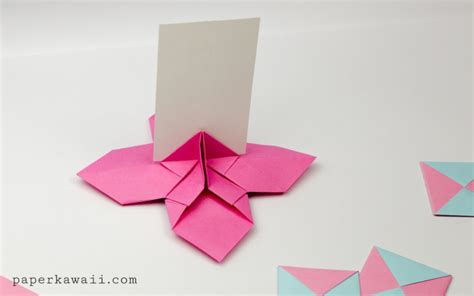 origami picture stand origami flower card holder paper kawaii