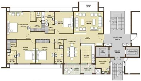 2500 sq ft floor plans 3000 sq ft 4 bhk 4t apartment for sale in rohtas