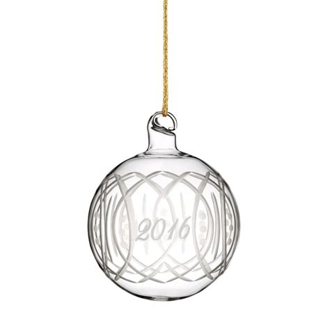 waterford glass ornaments 2016 annual ornament discontinued marquis by
