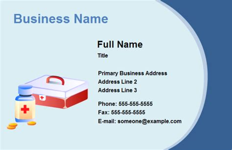 business card medical free business card medical templates