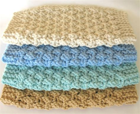 knitted washcloths knit dishcloth cotton knitted dish cloth earth