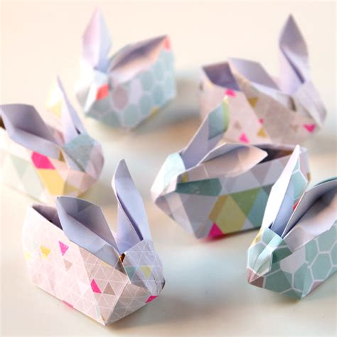 origami easter bunny basket 20 bunny crafts for to make