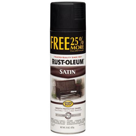 spray paint black shop rust oleum 15 oz black satin spray paint at lowes