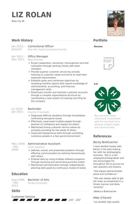 correctional officer resume samples visualcv resume