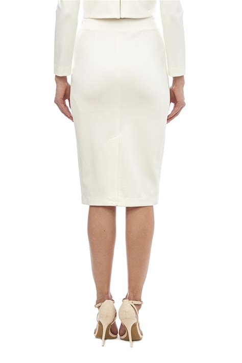 white knit pencil skirt blaque label white knit pencil skirt from houston by