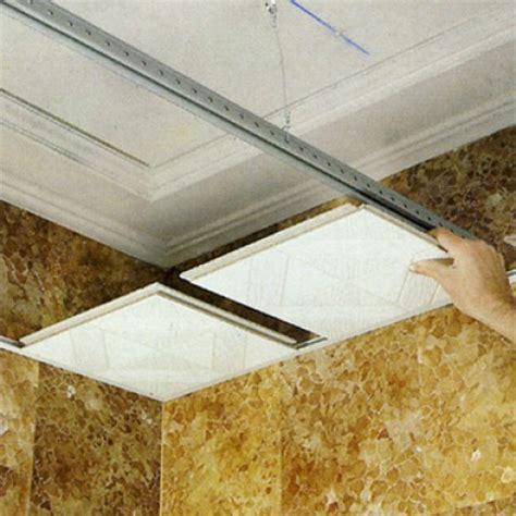 pose faux plafond suspendu dalle 60x60 maison travaux