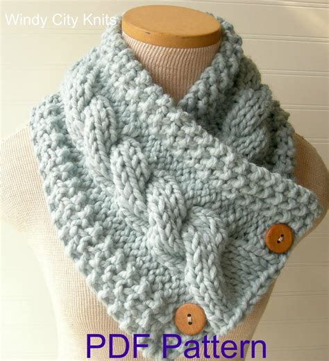 cable knit scarf pattern windycityknits knit cable cowl scarf pattern pdf