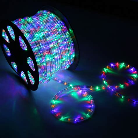 led rope lights outdoor 150 rgb multi color led rope light home outdoor