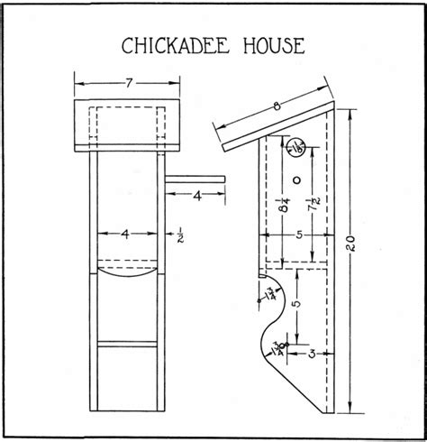 chickadee house plans chickadee bird house plans