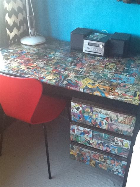 decoupage a desk pin by wilson on things for my