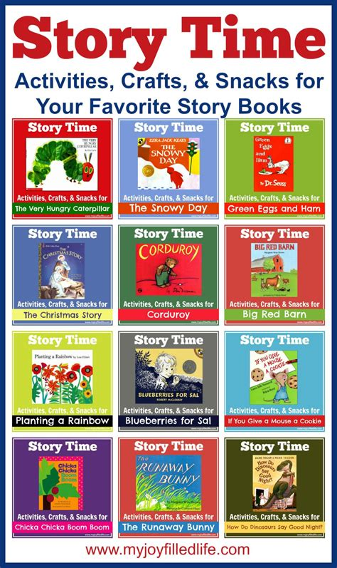 picture book activities story time activities crafts snacks for your