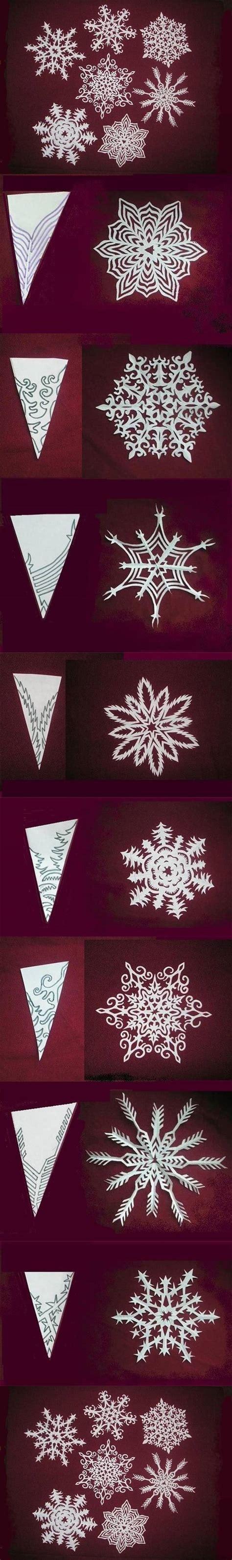 snowflakes paper craft wonderful diy paper snowflakes with pattern