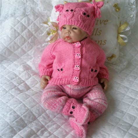 baby doll knitting patterns uk 17 22 quot doll 0 3 months baby 112