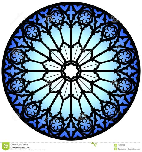 blue rose window stock photos image 29156703