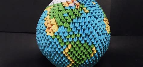 how to make origami sphere how to make a sphere shaped origami earth difficult