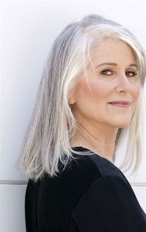 mid length grey hair gray hair hairstyles for gray hair hairstyles for