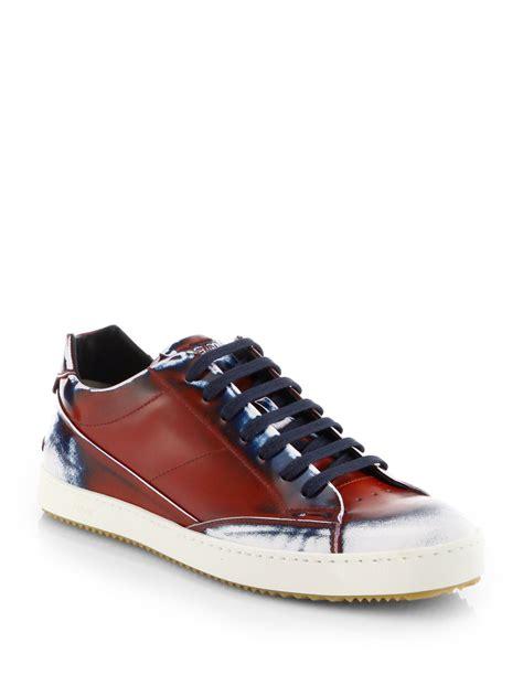 spray paint sneakers fendi spraypaint laceup sneakers in for lyst
