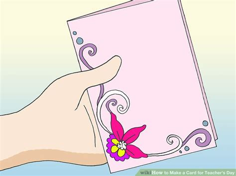 how to make teachers day card 5 ways to make a card for s day wikihow
